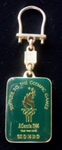 Coleccion!! Llavero Juegos Olimpicos Atlanta 1996 Enchap Oro