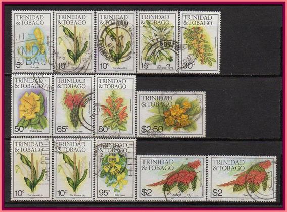 Trinidad & Tobago - Flores 1983-89 - Várias Datas