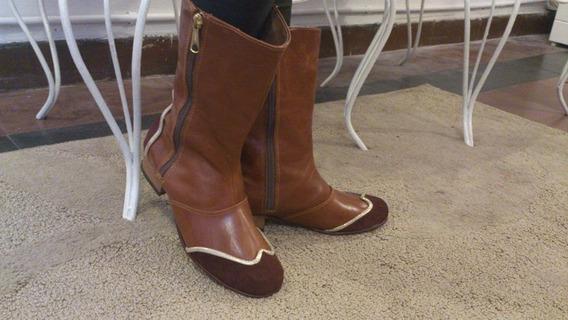 Botas De Cuero Artesanales - Modelo Penny Talle 36