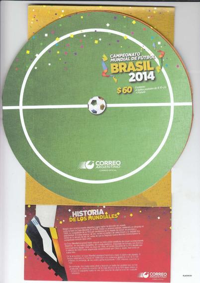 Mundial Brasil 2014 Pack De Estampillas Fixture Y Sobre