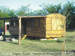 Vagon De Madera Cabañas Tren O Galpon Construccion Replica
