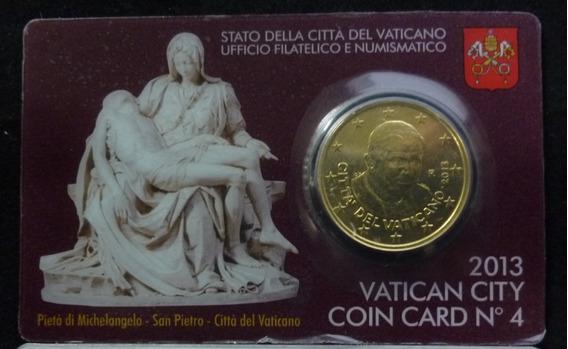Vaticano Blister Moneda La Piedad De Miguel Angel 2013