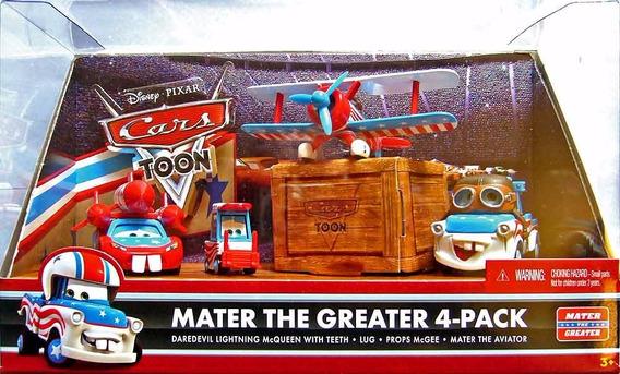 Disney Cars Orig.mattel 2 Kit C/04 Carros Novos Mater