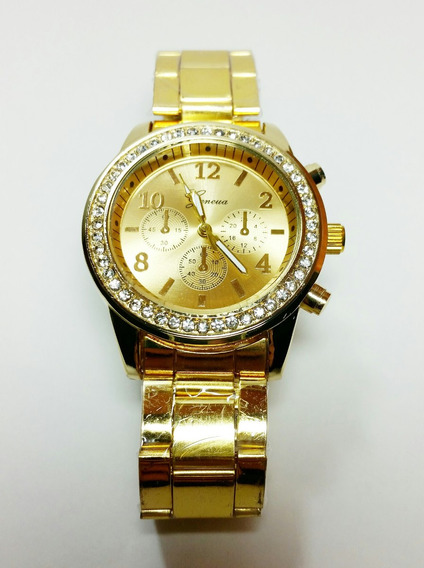 Relógio Analógico Pulso | Geneva Gold