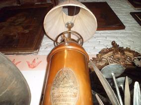 Extintor Antigo De Cobre Com Placa (iluminação E Decoração)