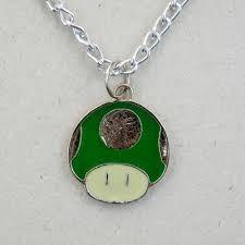 Colar Cogumelo 1up Verde Super Green Super Mario Nintendo *