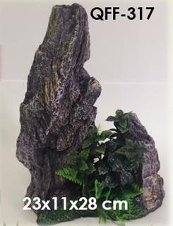 Aqua-pro Rocha Artificial Com Plantas Qff-317