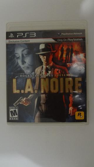 Jogo Para Ps3 La Noire (black Label) Usado