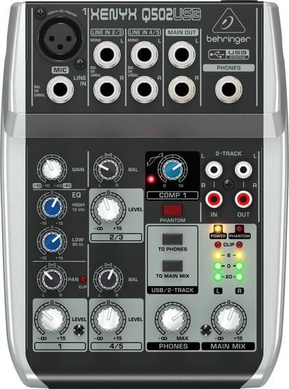 Q502usb Xenyx Mesa De Som Behringer Mixer Q502 Usb Q-502
