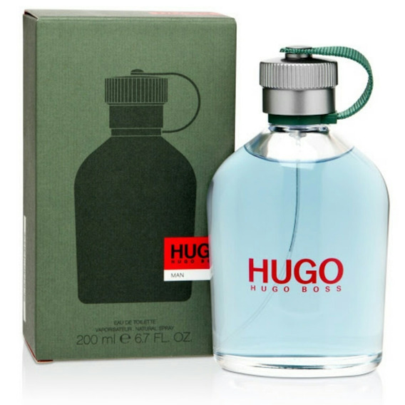 Perfume Hugo Boss Man 200ml Edt Verde Original Lacre Gigante