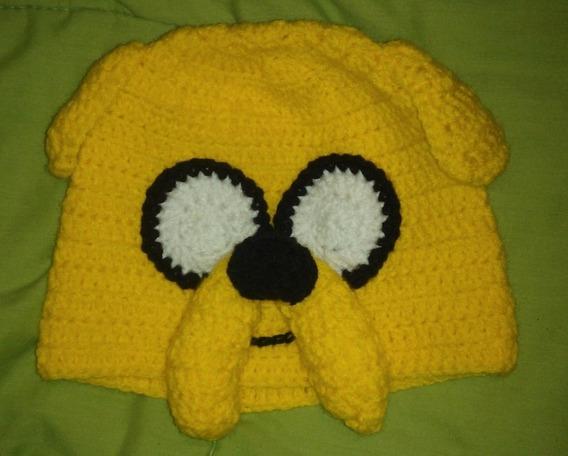 Gorro Jake De Hora De Aventuras - Tejido Al Crochet