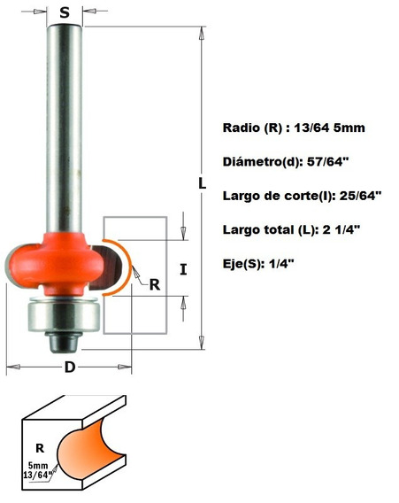 Broca Para Router Para Acanalar Radio 5mm 862.050.11