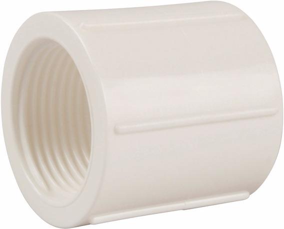 Luva Com Rosca Pvc 1/2 - Pacote 50 Unidades