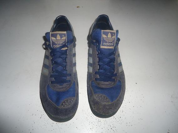 adidas Tênis Marathon Anos 80 Azul Com Azul Raro Ler Texto