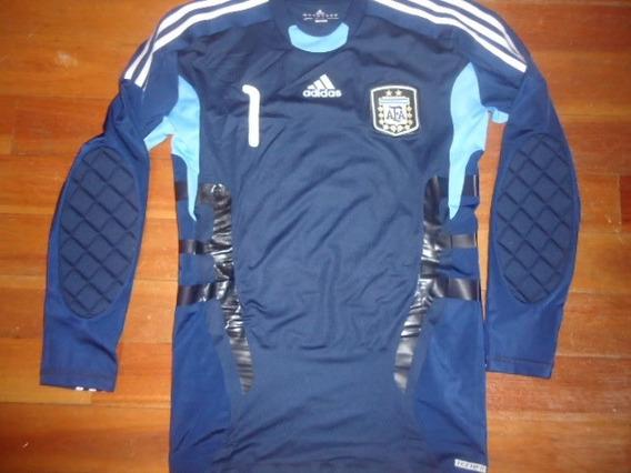 Camiseta Argentina Arquero Oficial 2014 Techfit #1 Romero !