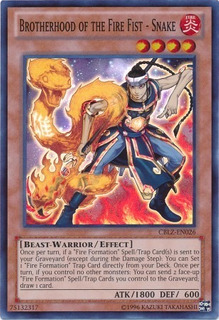 Brotherhood Of The Fire Fist - Snake - Cblz-en026 - Super Ra