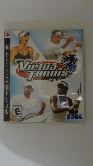 Jogo Para Ps3 Virtual Tennis 3 (black Label) Usado