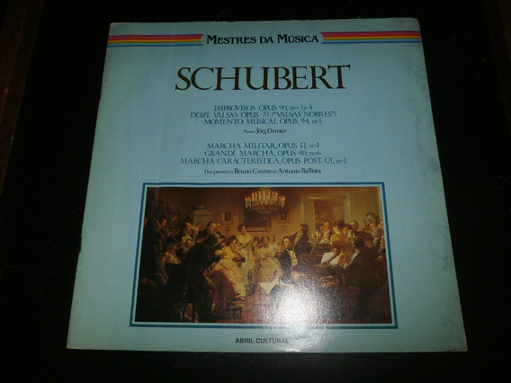 Lp Mestres Da Música - Schubert, Vinil Com Encarte, Ano 1980