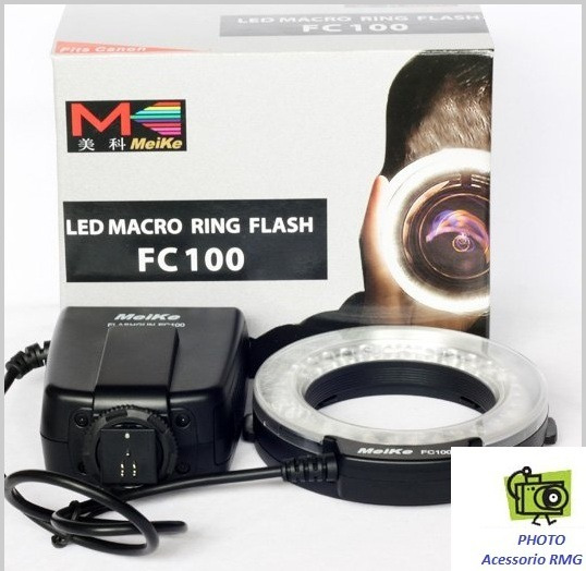 Flash Macro Ring Meike Fc 100 Para Canon E Nikon