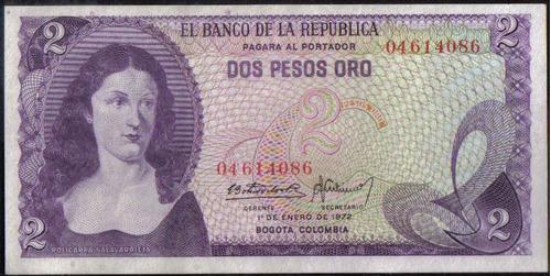 Colombia 2 Pesos 1 Ene 1972 Bgw093