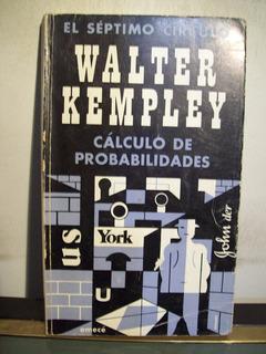 Adp Calculo De Probabilidades Walter Kempley / Ed Emece 1977