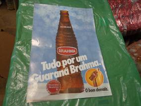 Cartaz Propaganda Guaraná Brahma Década 80 Mede 45cm X 31cm