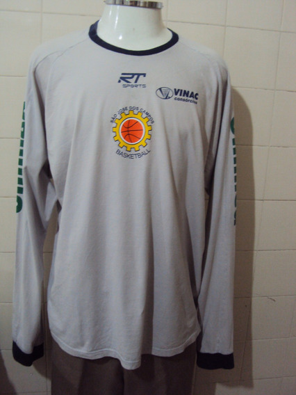 Camisa Manga Longa Rt Sports Basketball Sjc Unimed Tam Gg