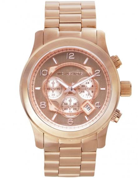 Relógio Michael Kors Mk8096 Runway Orig Chron Anal Gold Rosé
