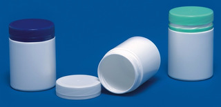Frasco Farmacêutico S50 C/10un. Tampa Azul- Inviolável