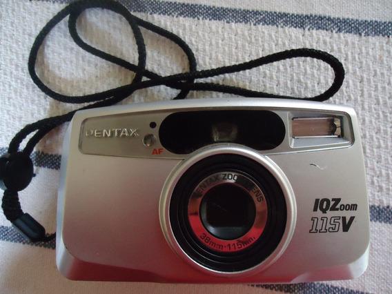 Câmera / Máquina Fotográfica Pentax Iqzoom 115v - Analogica