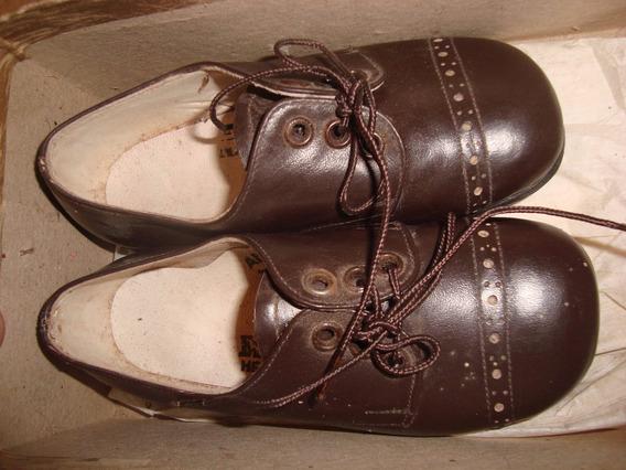 Zapatos Nene 22 Marca Escarpin Tutor Marrón Puro Cuero