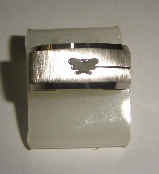 Anel De Aço Borboleta Vazado - Lindo - Melhor Preço -