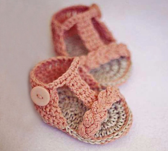 Sandália Para Bebês Salmão