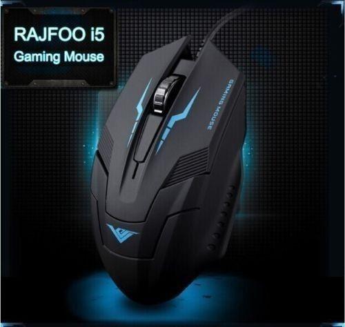 Mouse Gamer Rajfoo Ótico 1600 Dpi I5 6d - Oem -