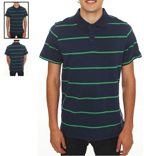 Hot Topic Playera Polo Azul Verde Polluted Blue And Green