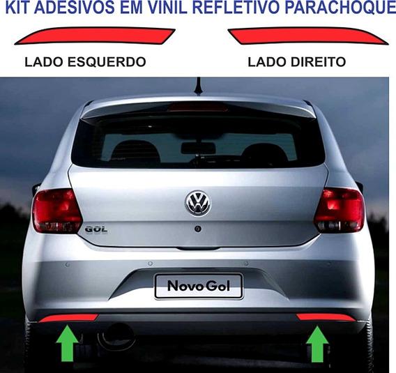 Adesivos Refletivo Parachoque Vw Gol G6 Par