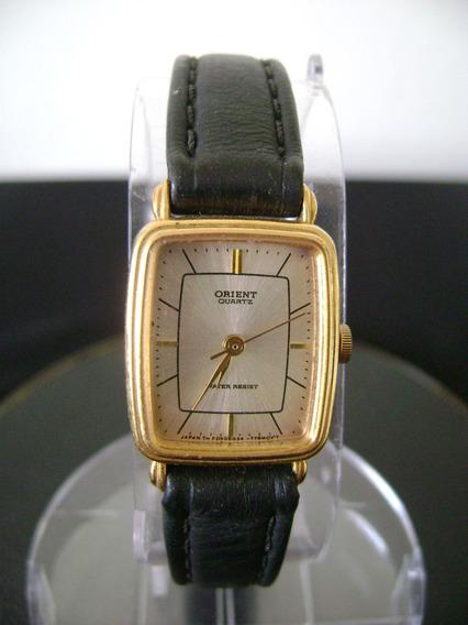 Relógio De Pulso Feminino Em Plque De Ouro Orient