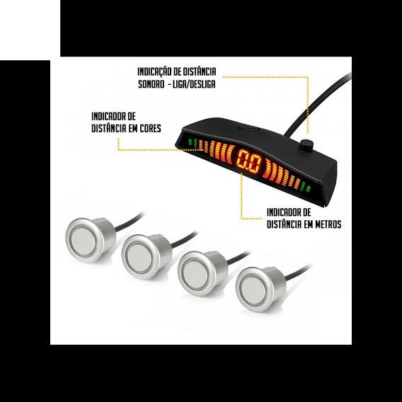 Sensor Estacionamento Prata Ré 4 Sensores Com Display