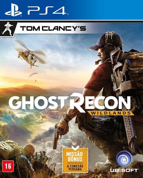 Ghost Recon: Wildlands - Ps4 - Mídia Física - Novo