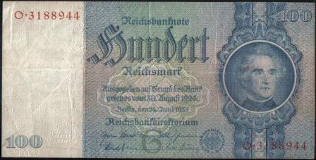 Alemania 100 Reichsmark 24 Jun 1935 Anv P183