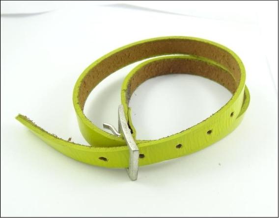 Pulseira Tornozeleira Duas Voltas Unisex Couro Verde J1610