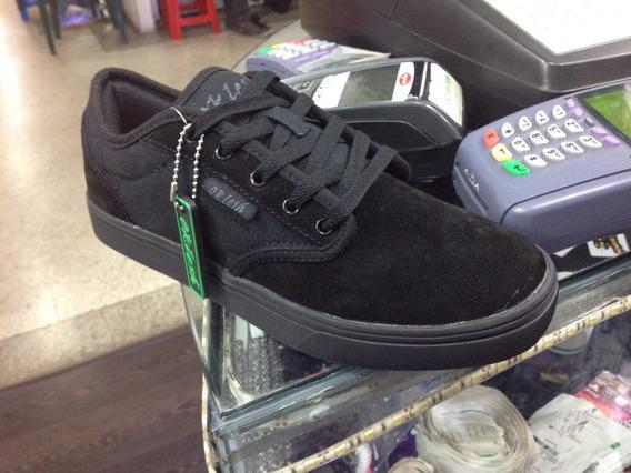 Zapato Todo Negro Colegial 35 36 37 38 39 Skate Vans Dcshoes