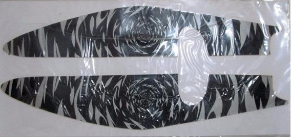 Adesivo Lateral Rabeta Titan 150, 2009-10, Silicone, Pto.cza