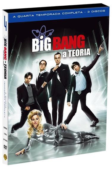 Big Bang A Teoria 4ª Temporada - Box Com 3 Dvds