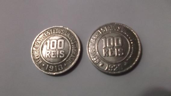 Moedas 100 Réis Brasileiro De 1918 E 1920