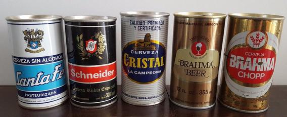 Latas Cerveza Colección Santa Fe Schneider Cristal Brahma