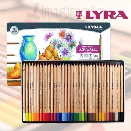 Lápis De Cor Lyra Rembrand Aquarelável Cj 36 *frete+barato*