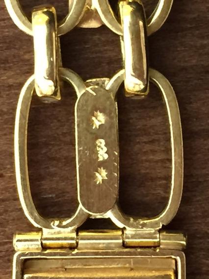 Pulseira P/relógio Ouro 18 K-39.8 Gr.-16cm.larg.18mm.