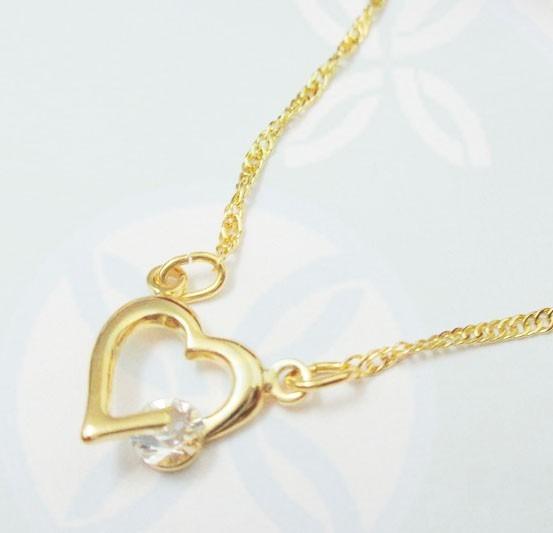 Semi Joia Rommanel Coração Feminino Cristal Presente 531182