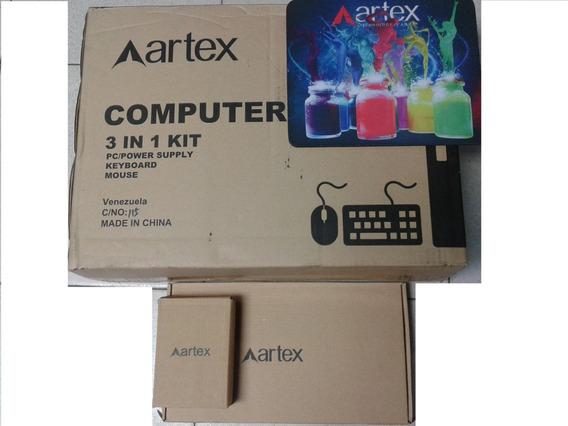 Combo Cpu Pc Amd Semprom 2,8ghz Case Slim Artex Win 8